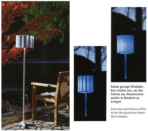Energieautarke AuSenleuchten sind im Kommen. Ein vorbildlicher Vertreter dieser Art ist 'Mawaridoro', eine LED-Leuchte, die mit Windkraft betrieben wird! Der Einsatz von LEDs ist eine der vielversprechendsten Moglichkeiten zur Erhoung der Energieeffizienz.